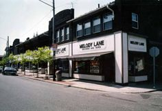 Looking west along the north side of Detroit Ave. towards the Marjorie Building on the northwest corner of Detroit and Gladys Ave.; location of Melody Lane. Lakewood Ohio, North West, Cleveland, Detroit, Dawn, Corner, United States, Memories, City