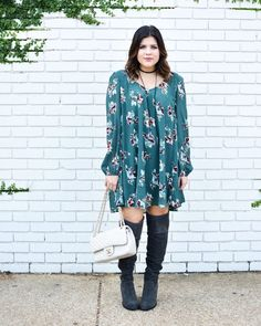 Did you miss this look with @shoppineapplelace on the blog Saturday? If so you've got to go check out this perfect fall floral dress! (Plus 15% of proceeds go to educators) #pineapplelace  The dress is @shoppineapplelace. Everything else is linked via http://liketk.it/2poS0 @liketoknow.it #liketkit #ltkshoecrush