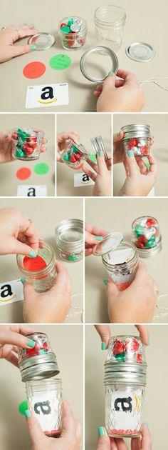 DIY Gift Card Snow Globes | Homemade snow globe | Pinterest | Globe ...