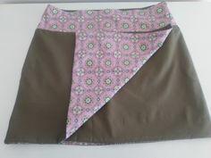 Wrap skirt reversible