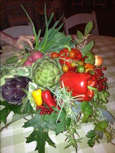 Fall vegetable arrangement