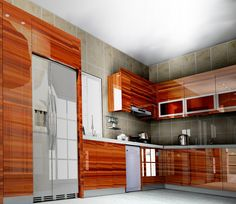 home design photos wood grain  This is our main kitchen cabinet---UV high gloss wood grain kitchen cabinet,it was made of the E0 grade plywood. It is upmarket and modern design in the future.