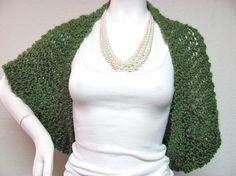 Crochet shrug - olive green