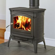 Craftsbury 8391 wood stove in matte black, by Hearthstone. Heats up to 1300 sq. ft. Available from Rich's for the Home http://www.richshome.com/