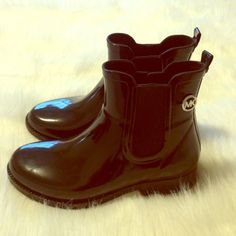 Michael Kors Rainboots Like new! Ankle high Rainboots by Michael Kors. In perfect condition! No trades. Authentic. Michael Kors Shoes Winter & Rain Boots
