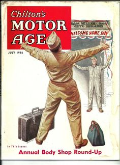 Chilton's Motor Age, July 1956. (Cover art by Charles S Bradley)