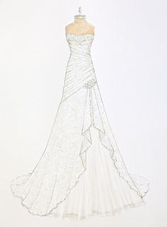 Custom Wedding Dress Illustration by ForeverYourDress on Etsy www.foreveryourdress.com
