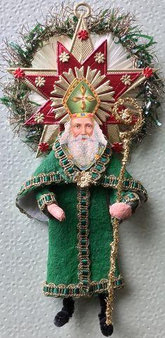 Vintage Look Cotton Santa Christmas by HavAMarileeChristmas