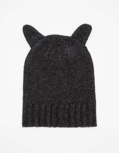 Kitty Hat on Wantering | Gifts for Her | womens kitty hat | womens beanie | womens touque | black | fashion | style | wantering http://www.wantering.com/womens-clothing-item/kitty-hat/afPLA/