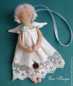 Купить Ангел Рождества, ёлочная подвеска - белый, ангел, ангелок, елочная игрушка, ёлочная игрушка