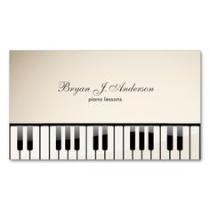 Piano keyboard business card Best Business cards and Pianos ideas