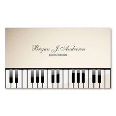 Piano Teacher Business Card | Teacher business cards, Business ...