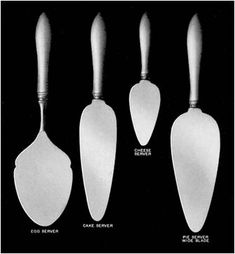 Guide to servers and utensils -- flat servers
