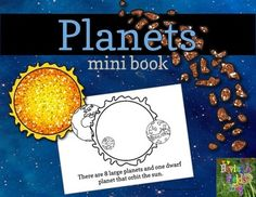FREE! This Planets Mini Book will introduce young learners to the planets of the Solar System. Pages print in black and white so students can color in the fun planetary images. Print, cut, staple, and color!.