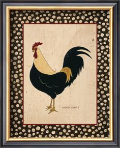 Image detail for -Goldfeather Chicken Poster by Warren Kimble at AllPosters.com
