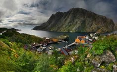 small fishing village, north norway