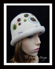 Adult Hat-239Women's Felted Cloche Hat, Vintage, Accessories, Hat, Handmade, Fall-Winter, cloche felt hat, Downton abbey by DebbiesDesign on Etsy