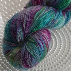 Hand dyed British sock yarn - Wings of the Fey on Poppy sock from Ovis Yarns 100% BFL