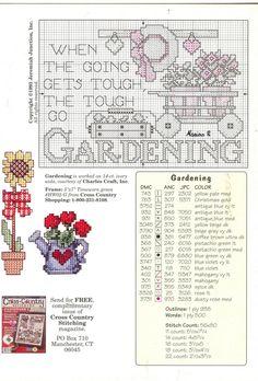 Schematic cross stitch Gardens Galore 04