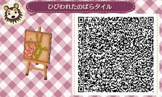 ACNL QR Code: Rose Vine Tile (Two Variations)