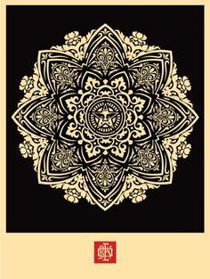POSTER / OBEY 'Mandala Ornament' Print