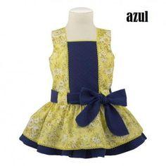 Vestido de niña marinero talle bajo, moda infantil- fabricado en España…