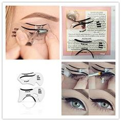 Amazon.com: 2Pcs Smokey Cat Eye Eyeliner Models Template Stencils Makeup Tools Eyeliner Card: Cell Phones & Accessories