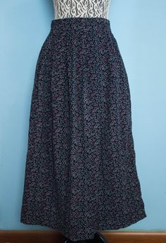 **SOLD** Vintage Land's End Corduroy Maxi Skirt by JenuineCollection