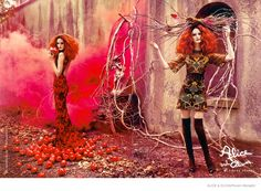 Fashion Fairytale--The fall-winter 2014 advertising campaign from Alice + Olivia gets magical with a fairytale themed shoot starring Lisa Cant. Photographe