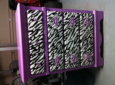 Our zebra dresser!! Michael is surprisingly great at doing zebra! Lol