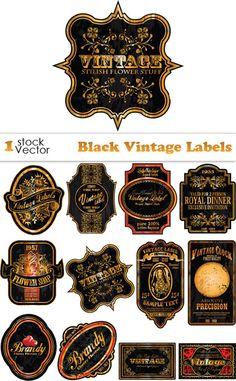 Etiquetas imprimibles vectoriales de inspiración vintage