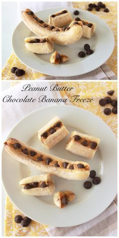 You'll totally love this Peanut Butter Chocolate Banana Freeze by www.cookingwithru... it's the perfect healthy snack anytime of year!