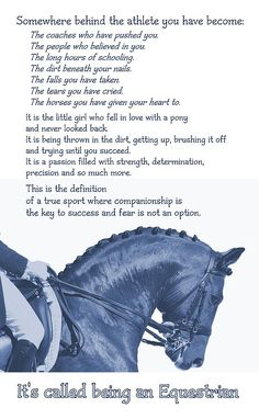 I am certainly no athlete, but I remember the exact pony I fell in love with as a kid, she was a white miniature at a Medieval Fair.  I have experienced the tears and definitely the falling.  Riding is such an awesome experience, but it does involve risk!