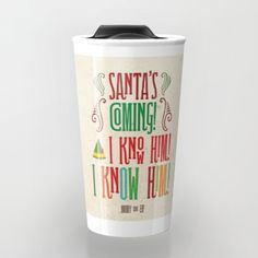 First day on the job, and Buddy the Elf learned whos coming to town! Show off your Christmas cheer to family, friends and coworkers with this cute 12 oz. travel mug and memorable quote from the classic A Christmas Story. The perfect combination of two things that let us know it is the holiday season: classic quotes from A Christmas Story and a good cup of coffee, cocoa, or tea!  Enjoy your beverage to go with a personalized ceramic travel mug. Double-walled with a press-in suction lid, the…