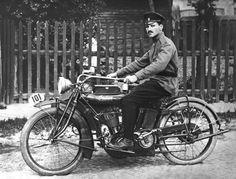 Mechanic of motorcycle forces, Minsk, Belarus, 1914.