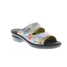 Flexus Kina Wedge Slide Sandals – White/Multi