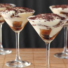 Delight your guests with Tiramisu in a glass - the perfectly sized indulgence.