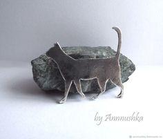 Купить Брошь серебро Кошка брошь из серебра серебряная брошь с кошкой в интернет магазине на Ярмарке Мастеров