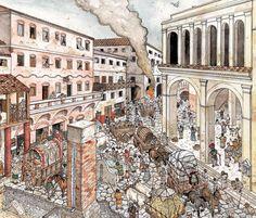 Roman street scene