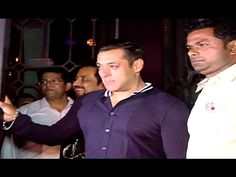 Salman Khan at brother in law Aayush Sharma's birthday party.