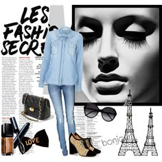 Designer Clothes, Shoes & Bags for Women Fade Styles, Fashion Sets, Thalia, Paris, Shoe Bag, Denim, Chic, Polyvore, Shopping