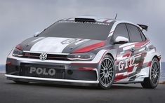Download wallpapers Volkswagen Polo GTI R5, 4k, 2018 cars, WRC, FIA world rally, rally, VW Polo, Volkswagen