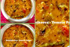 Andhra Style Menthi Koora - Tomato Pappu (Lentils with Fenugreek leaves and Tomato)