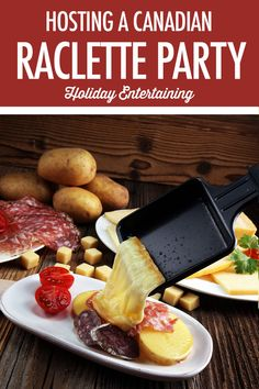 Canadian Cheese: Canadian Raclette – home acssesories Raclette Recipes, Raclette Party, Cooking Recipes, Raclette Ideas, Canadian Cheese, Canadian Food, Canadian Party, Winter Treats, Lunch Snacks