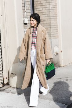 have teddy coat, will travel. Leandra in NYC. #LeandraMedine #ManRepeller