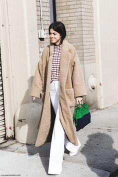 have teddy coat, will travel. Leandra in NYC. #LeandraMedine #ManRepeller
