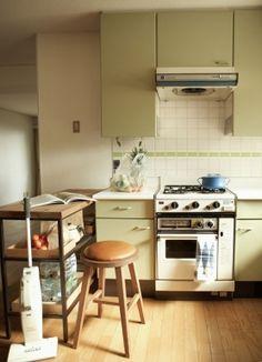 ノスタルジックな趣のキッチン