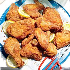 Sweet Tea-Brined Fried Chicken - A marriage of Southern favorites: Our salty-sweet brine of brown sugar and freshly brewed tea infuses this picnic-perfect chicken with juicy flavor before frying. Bonus: The tannins in tea act as a natural tenderizer.