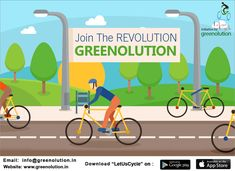 Let Us Cycle is an initiative taken by #Greenolution to encourage people to use cycles more and other polluted vehicles less.  #LetUsCycle