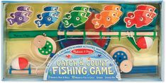 Buy Melissa & Doug: Catch & Count Magnetic Fishing Rod Set at Mighty Ape NZ. Catch some laughs and learning with this wooden magnetic play set–complete with working wind-up reel! The 10 magnetic fish are numbered and patterned . Counting Activities, Craft Activities, Developmental Toys, Melissa & Doug, Camping, Matching Games, Games To Play, Christmas Gifts, Christmas 2016